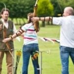 picture of group coaching for beginner archers