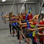 picture of junior club archers shooting
